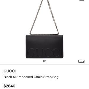 d84fb1be7 Gucci Bags | Xl Leather Embossed Chain Strap Bag | Poshmark